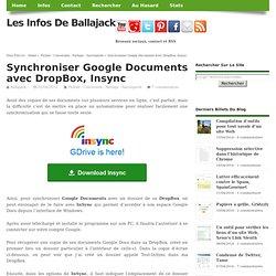 Synchroniser Google Documents avec DropBox, Insync