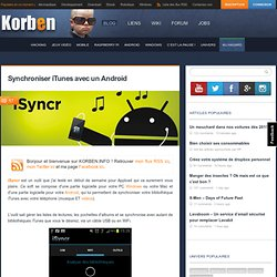 Synchroniser iTunes avec un Android