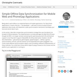 Simple Offline Data Synchronization for Mobile Web and PhoneGap Applications