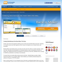 ASCOMP: Windows Software for Backup, Synchronization & Cleaning / PC Optimization