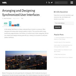 Arranging and Designing Synchronized User Interfaces