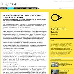 Synchronized Cities: Leveraging Sensors to Optimize Urban Activity