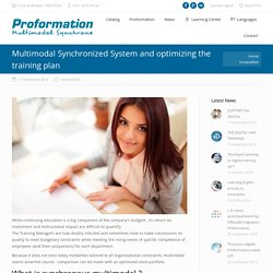 Multimodal Synchrone et optimisation du plan de formation