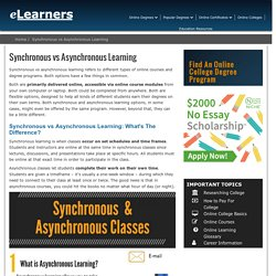 Synchronous vs Asynchronous Learning