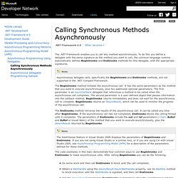 Asynchronous Programming Overview