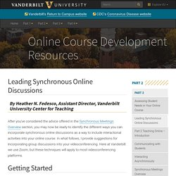 Leading Synchronous Online Discussions