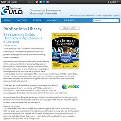 Guild eBooks: Handbook on Synchronous e-Learning