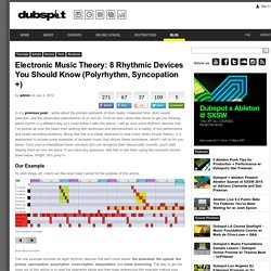 Electronic Music Theory: 8 Rhythmic Devices You Should Know (Polyrhythm, Syncopation +)