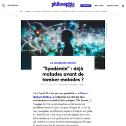 """Syndémie"": déjà malades avant de tomber malades?"