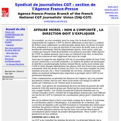 - Syndicat de journalistes CGT - section de l'Agence France-Presse
