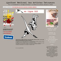 SNAT Syndicat National des Artistes Tatoueurs