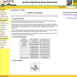 Syndicat Apicole de Haute-Normandie - Le GDSA: un partenaire