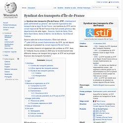 Syndicat des transports d'Île-de-France - Wikipédia - Mozilla Fi
