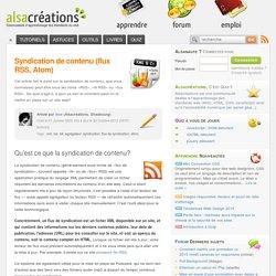 Syndication de contenu (flux RSS, Atom)