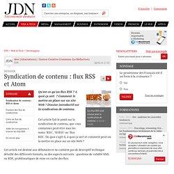 Syndication de contenu : flux RSS et Atom