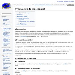 Syndication de contenu web