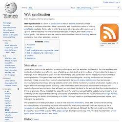 Web syndication