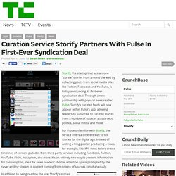 Curation Service Storify Partners With Pulse In First-Ever Syndication Deal