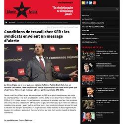 SFR : les syndicats envoient un message d'alerte