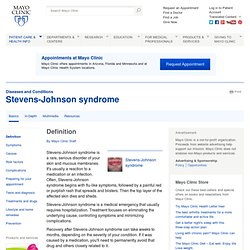 Stevens-Johnson syndrome Definition