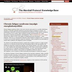Chronic fatigue syndrome (myalgic encephalomyelitis) (MPKB)