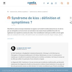 Kiss syndrome, mobilité d'un côté césarienne