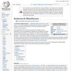 Syndrome de Münchhausen