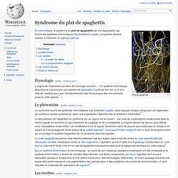 Syndrome du plat de spaghettis