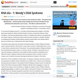 RISA Lila - 1: Wendy's Child Syndrome