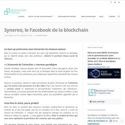 Synereo, le Facebook de la blockchain – Blockchain France