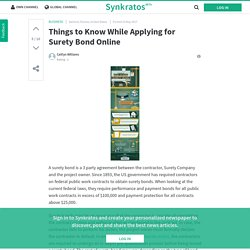 Synkratos - Things to Know While Applying for Surety Bond Online