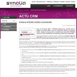 Synolia intègre Viadéo à SugarCRM : Agence Synolia, expert CRM et E-commerce