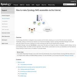 Comment accéder à mon Synology NAS v... - Serveur de stockage sur rése (...)