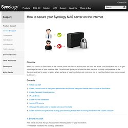Tutorials - Synology Network Attached Storage