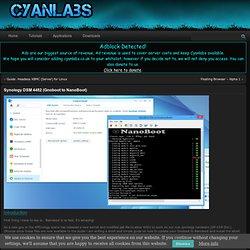 Synology DSM 4482 (Gnoboot to NanoBoot) - CyanLabs