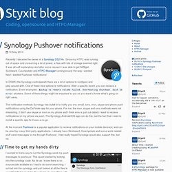 Synology Pushover notifications