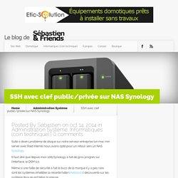 SSH avec clef public/privée sur NAS Synology