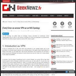 [Tuto] Créer un serveur VPN sur un NAS Synology