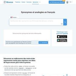 Synonymes et analogies en français