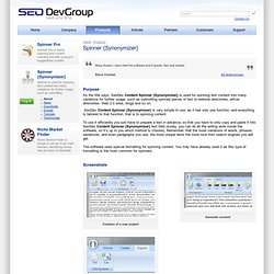 Spinner {Synonymizer} / Products / SeoDevGroup
