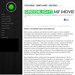 Write a Synopsis That Gets Results - Pitch a Movie