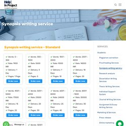Write an Outstanding Synopsis for your Thesis
