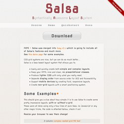 Salsa - Syntactically Awesome Layout System... Awesome!