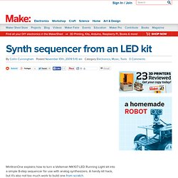 Make: Online : Synth sequencer from an LED kit