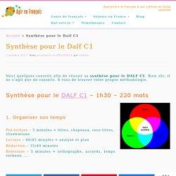 Synthèse pour le DALF C1 : comment la réussir ?