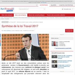 Synthèse de la loi Travail 2017