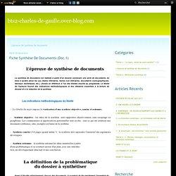 L'épreuve de synthèse de documents - Fiche synthèse de… - Rappel consignes… - bts2-charles-de-gaulle.over-blog.com