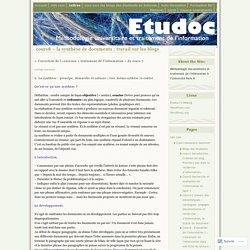 cours8 – la synthèse de documents ; travail sur les blogs