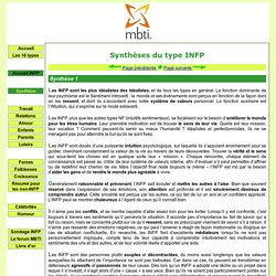 Synthèse du type INFP