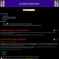 Fiche de synthèse - EXPR. ÉCRITE - Le texte explicatif